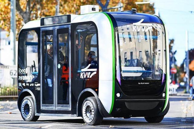 In Karlsruhe werden fahrerlose Busse getestet