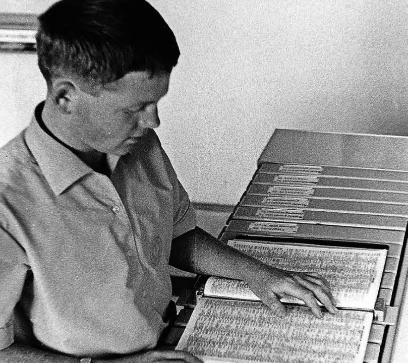 Gut gesichert: Telefonbücher vor 50 Jahren   | Foto: Armin Möller
