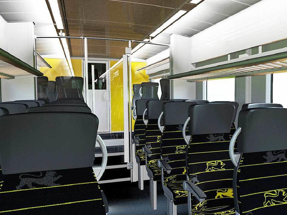 So soll der Innenraum der Züge aussehen.  | Foto: Alstom