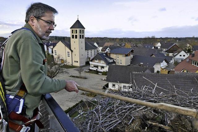 Storchenvater Wolfgang Hoffmann zieht sich zurück