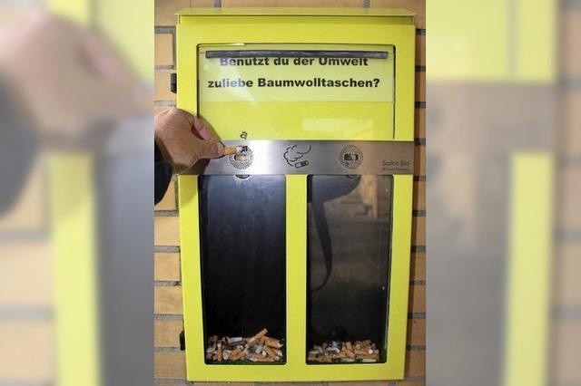 Kippenbox für Zigaretten am Bahnhof wird nicht gut angenommen