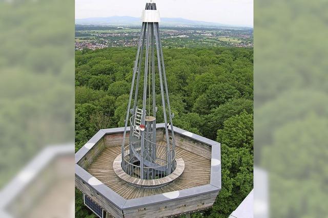 Auf dem Eichbergturm werden nicht nur die Besucher gezählt
