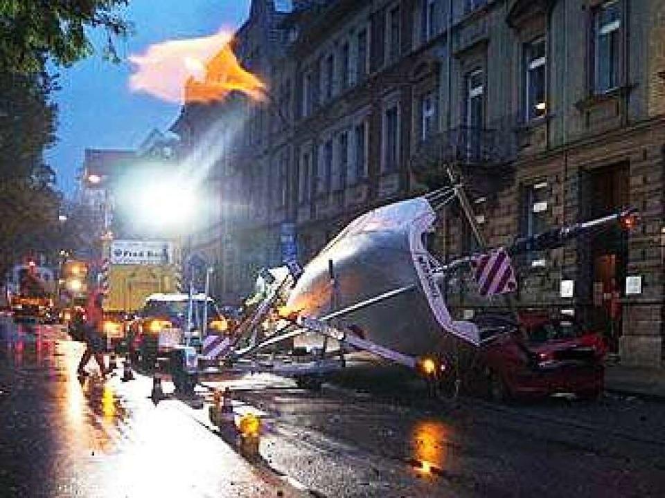 Der Unfallort in der Schillerstraße.  | Foto: Polizei