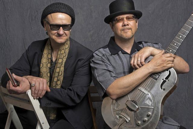 Das Rootsduo Joe Filisko und Eric Noden gastiert im Schiff in Freiburg