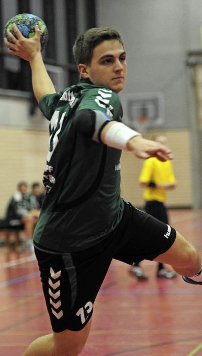 <BZ-FotoAnlauf>Handball-Bezirksklasse:...ore im Derby für den SV Schutterzell.   | Foto:  Bettina Schaller