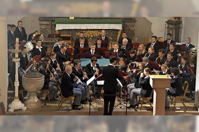 Der Musikverein Bleichheim spielte in St. Hilarius und erhielt viel Beifall