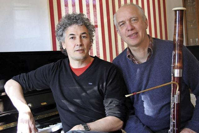 Tonmalereien von Stefan Heidtmann und Christian Rabe führen der Kulturscheune in Kleinkems in die Stummfilm-Ära
