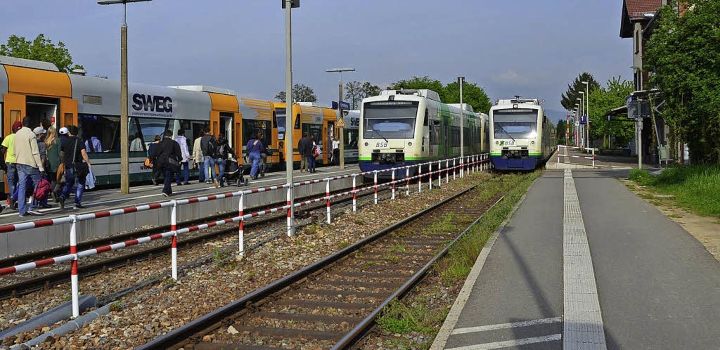 Der Bahnhof In Gottenheim wird für die...n 2020 im großen Stil umgebaut werden.  | Foto: manfred frietsch