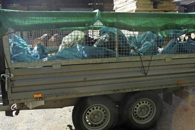 So viel Müll an der Elz