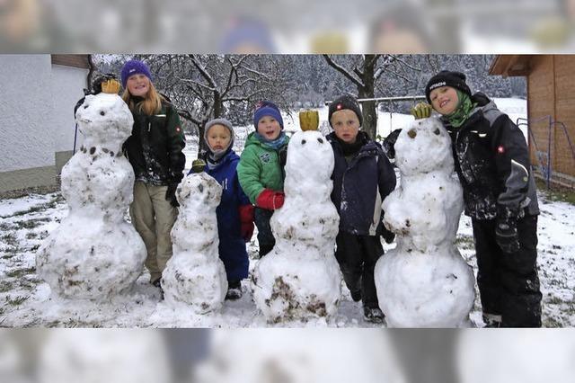 Die ersten Schneemänner