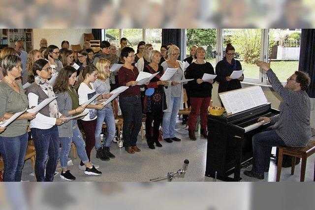 Über 40 Projektsänger geben Konzert