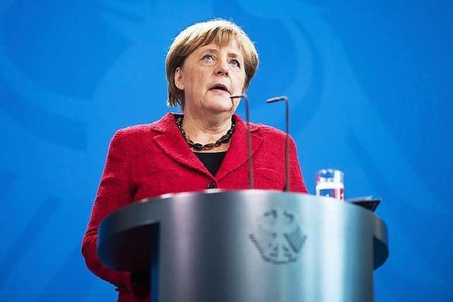 Merkels Warnung an Trump: Auf die Werte kommt es an