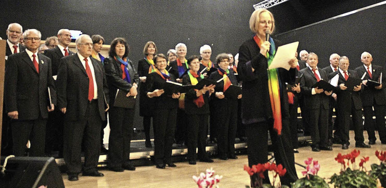 Die Sängerinnen und Sänger aus Hartheim  | Foto: Otmar Faller