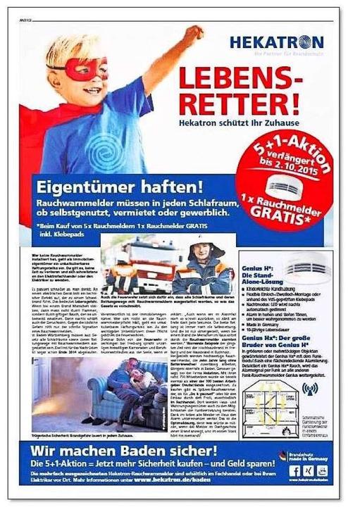 Sieger in der Verknüpfung von Print- u...tron mit seiner Lebensretter-Kampagne.  | Foto: bbz