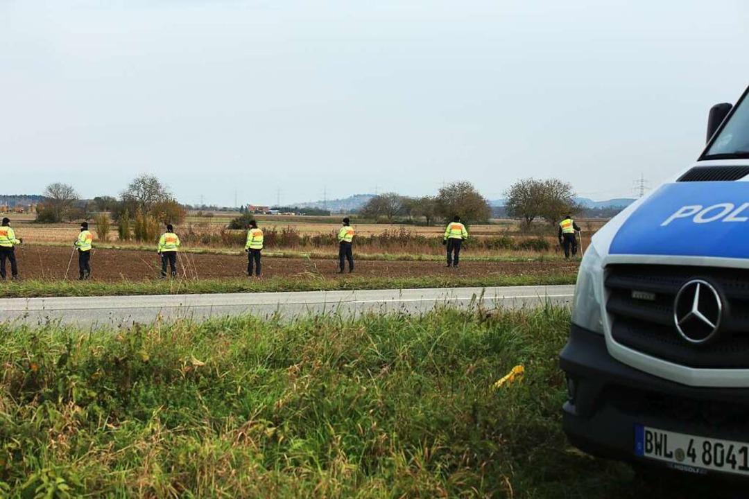 Suchaktion der Polizei nach der vermissten Carolin Gruber  | Foto: Hans-Peter Ziesmer