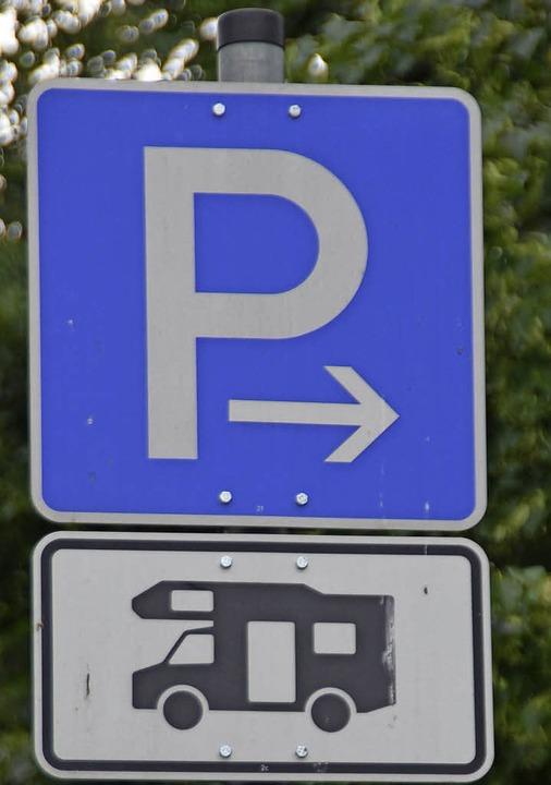 Das Schild suchen Wohnmobil-Touristen in Staufen bislang noch vergeblich.  | Foto: Archiv: Andrea Gallien