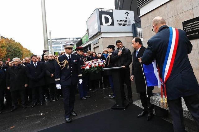 Frankreich gedenkt der Opfer der Anschläge von Paris
