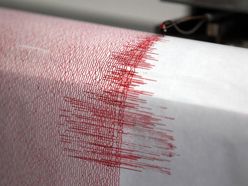 Das Beben ereignete sich Experten zufo... Tiefe von 10 Kilometern. (Symbolbild)    Foto: dpa