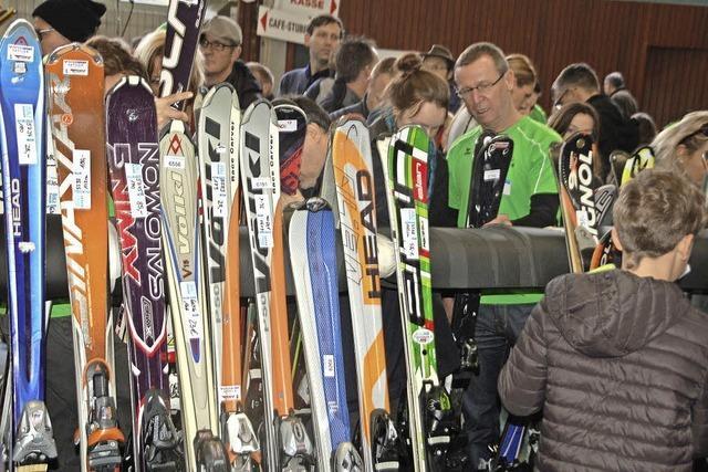 Über 1000 Skisportartikel im Angebot