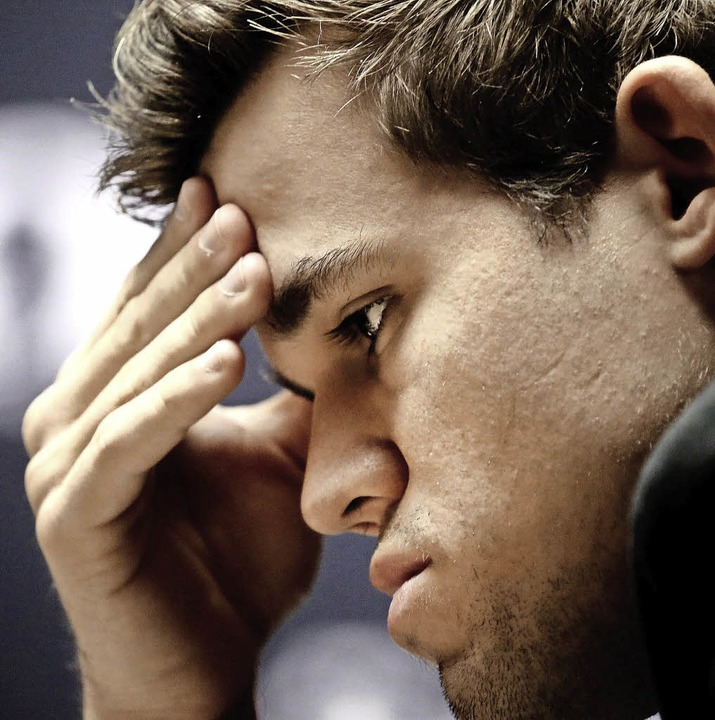 Konzentriert: der Norweger  Magnus Carlsen     Foto: dpa
