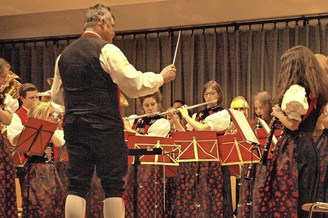 Die Trachtenkapelle spielt zum Jahreskonzert in Wittenschwand