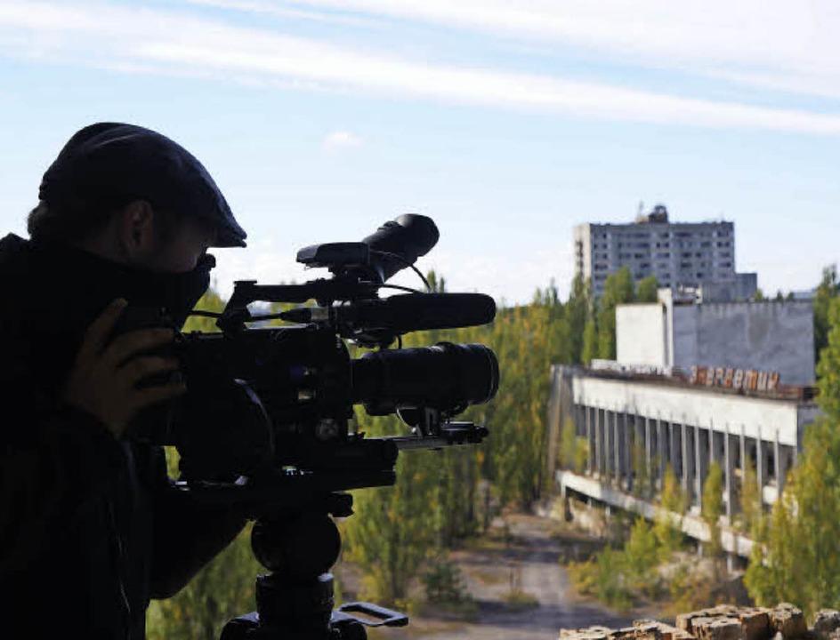 Vier Wochen lang waren die Filmemacher...er ukrainischen Geisterstadt Prypjat.   | Foto: Privat/Ingo Schneider