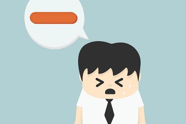 Negative Gedanken können auf dem Weg nach oben helfen