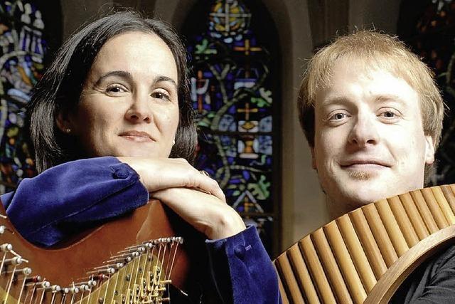 Panflöte und Harfe in Gengenbach