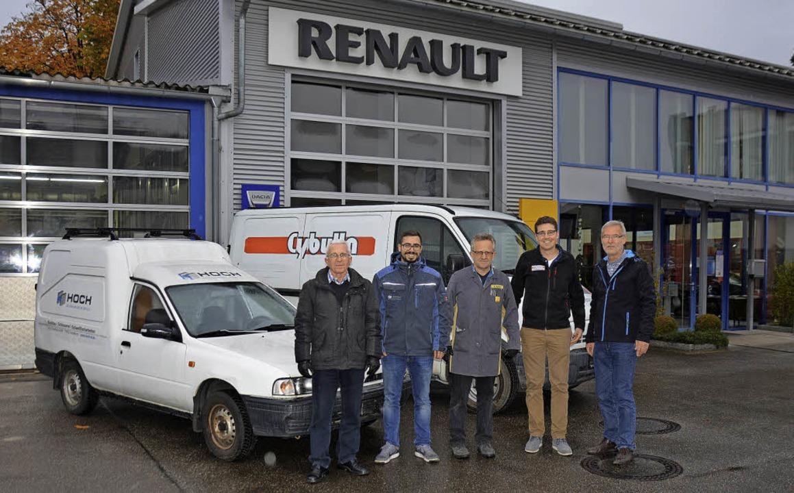 """Spendenübergabe der Cybulla GmbH, Hoch...eiger von """"Drive to Help"""".    Foto: ZVG"""