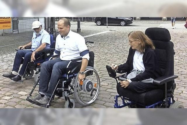 Im Rollstuhl unterwegs