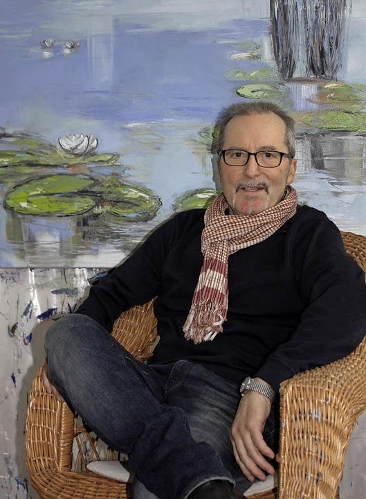 Wilfried Klausmann zeigt der Öffentlic...rosen – und viele andere Werke.     Foto: Gabriele Fässler