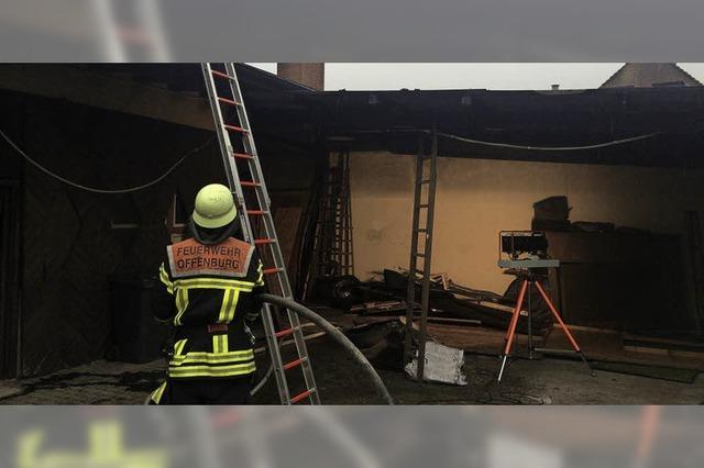 Holzschopf ausgebrannt