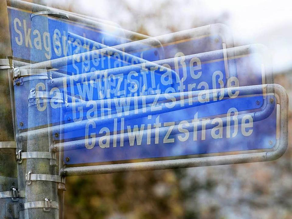Unter anderem die Gallwitzstraße im so...ertel soll einen neuen Namen bekommen.  | Foto: Ingo Schneider