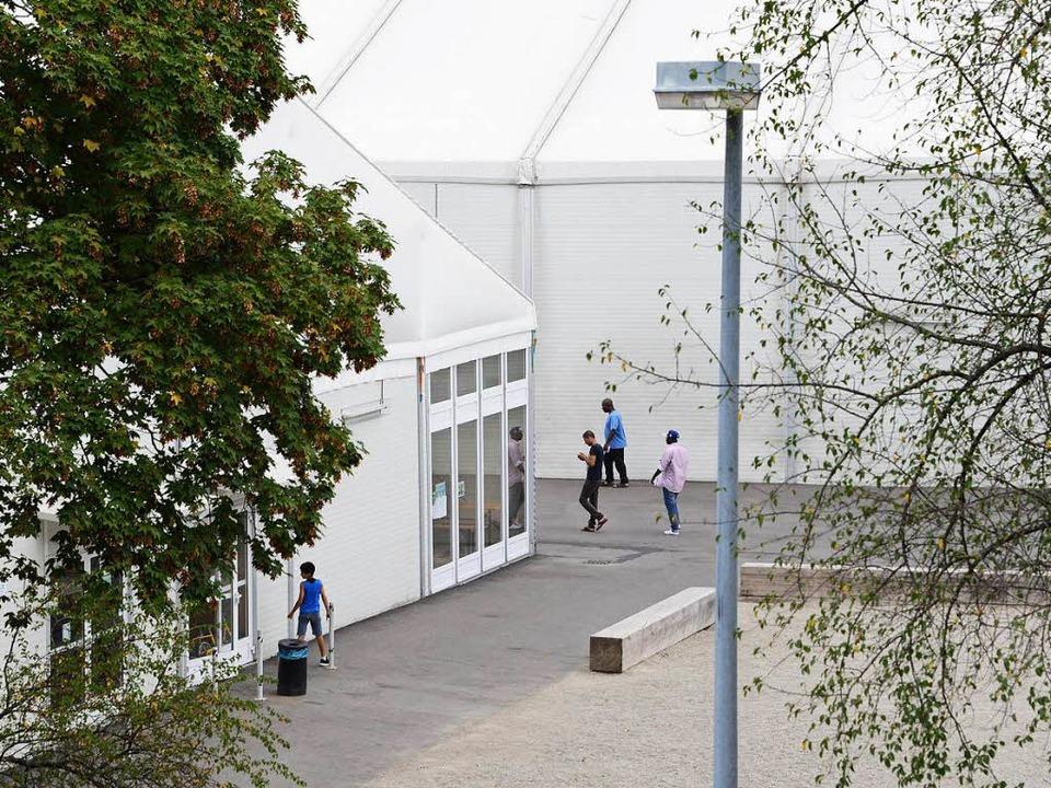 Die Anlage bei der ehemaligen Polizei-Akademie in Freiburg.  | Foto: Rita Eggstein