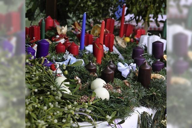 Weihnachtlicher Stand in St. Blasien