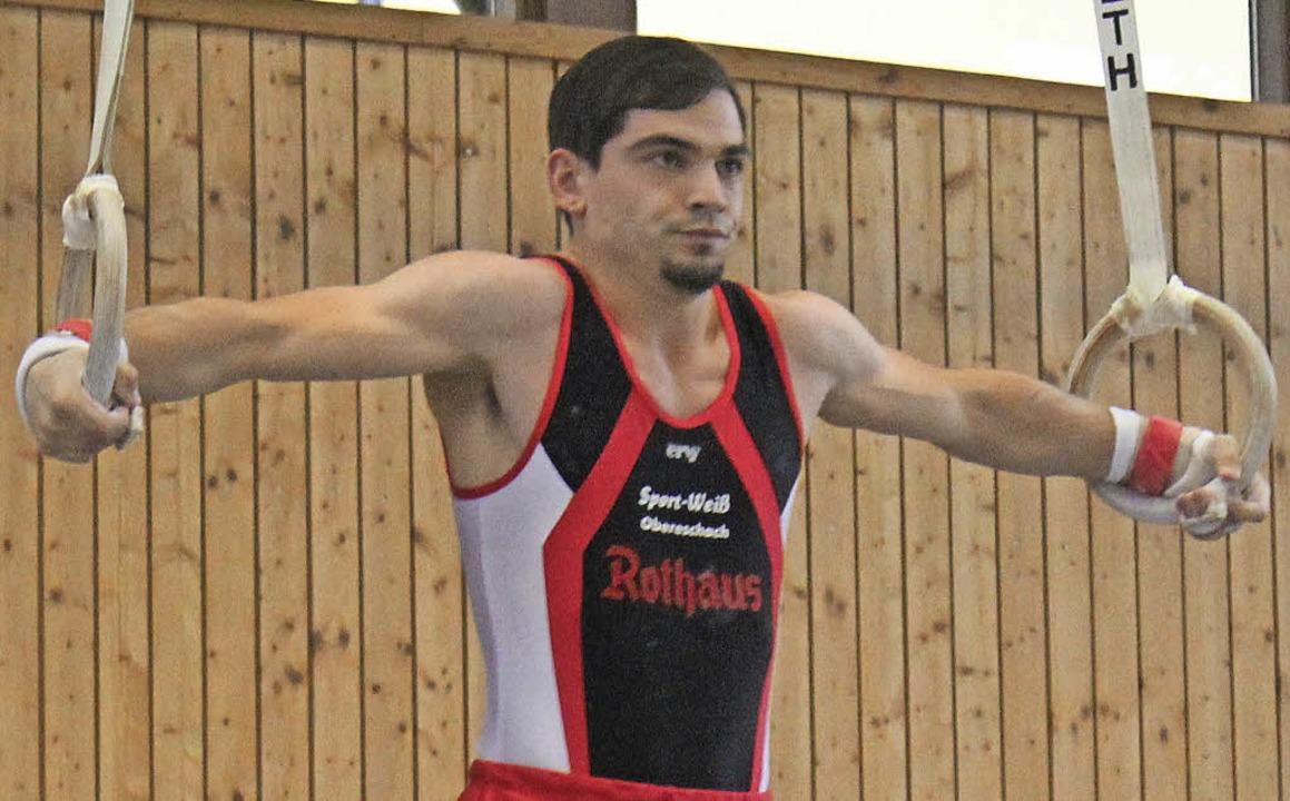 Bester Einzelturner in Schonach: Sebas..., der für die WKG Schwarzwald startet.  | Foto: loos