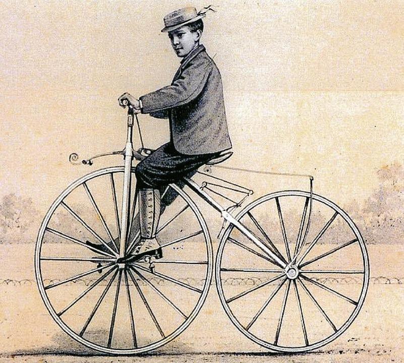 Hoch zu Rad  | Foto: dpa und Wikipedia