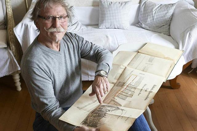 Ein Freiburger hat die Originalpläne für Freiburgs Straßenbahnnetz auf dem Speicher gefunden