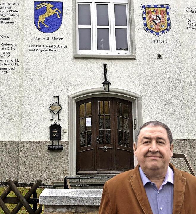 Rudolf Gwinner, hier vor seinem mit Wa... 17 Jahren den Löffinger Gemeinderat.   | Foto: Martin Wunderle