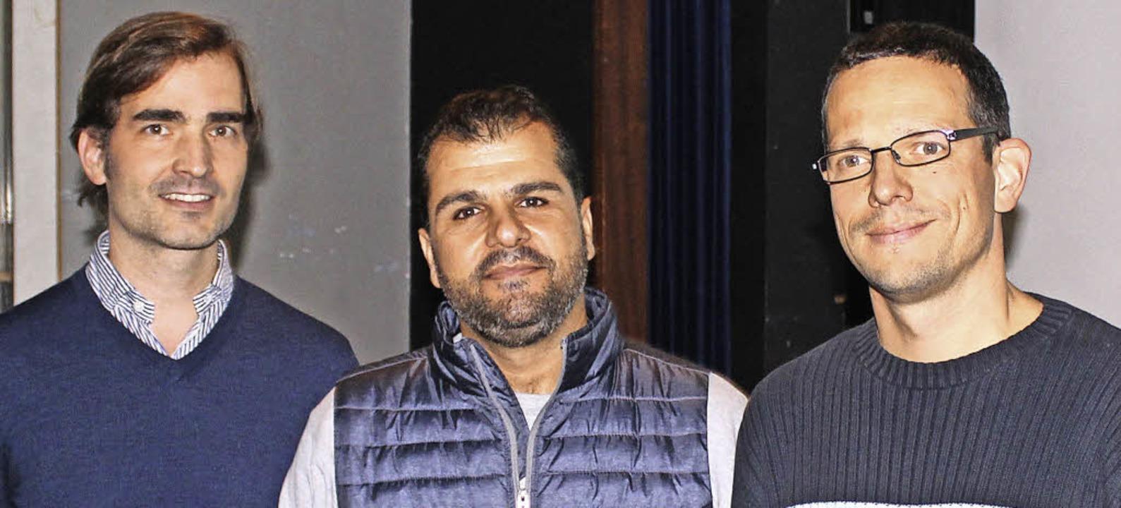 Der Vize-Direktor des syrischen Nation...ks) und Patrick Thalacker eingeladen.   | Foto: Joshua Kocher