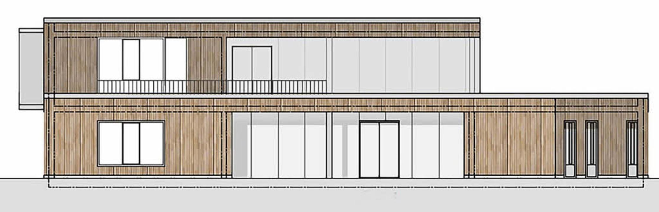 So wird das neue Kinderhaus in Kirchza...rg einmal aussehen (Ansicht Süd-Ost).     Foto: Zeichnung: Architekturbüro Böwer Eith Murken + Vogelsang