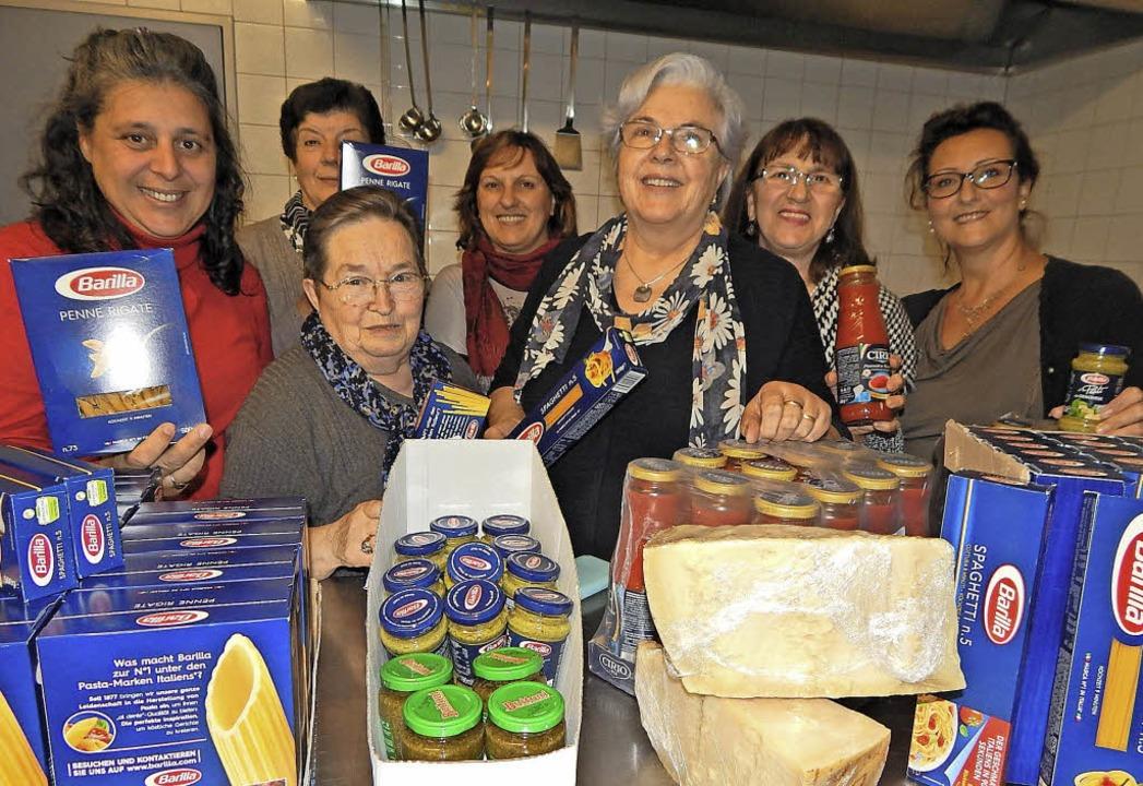 Pasta satt gibt's am Sonntag im Pfarrzentrum.     Foto: Claudia Gempp