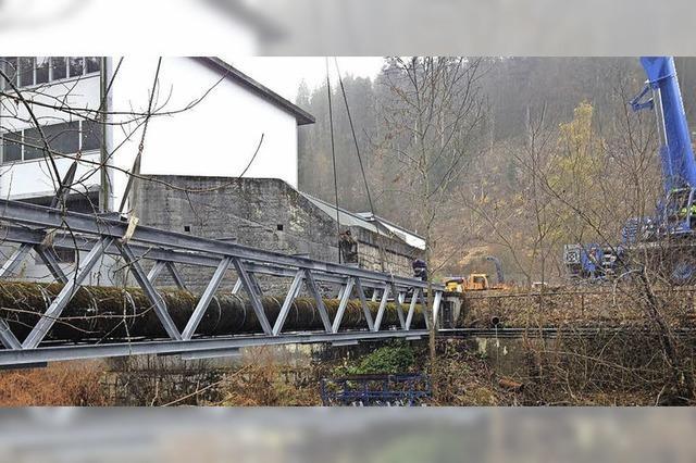Rohrbrücke am Tusculum