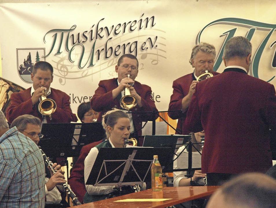 Anlässlich des 175-jährigen Bestehens ... vom Musikverein Urberg ausgerichtet.     Foto: Karin Steinebrunner