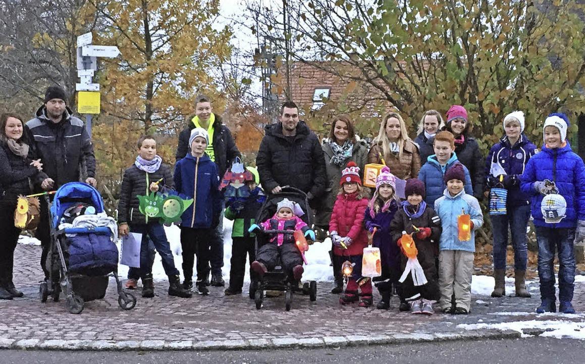 Die Kinder des Ortsteiles Strittberg s...gendhospiz in Villingen-Schwenningen.   | Foto: privat
