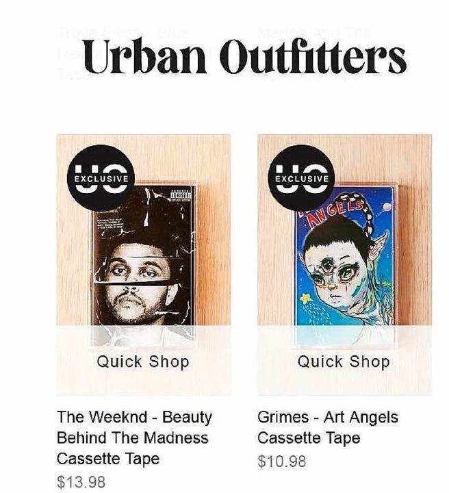 Exklusive Auflagen – zwei Alben ...beim Hipster-Kaufhaus Urban Outfitters  | Foto: Screenshot / Urban Outfitters