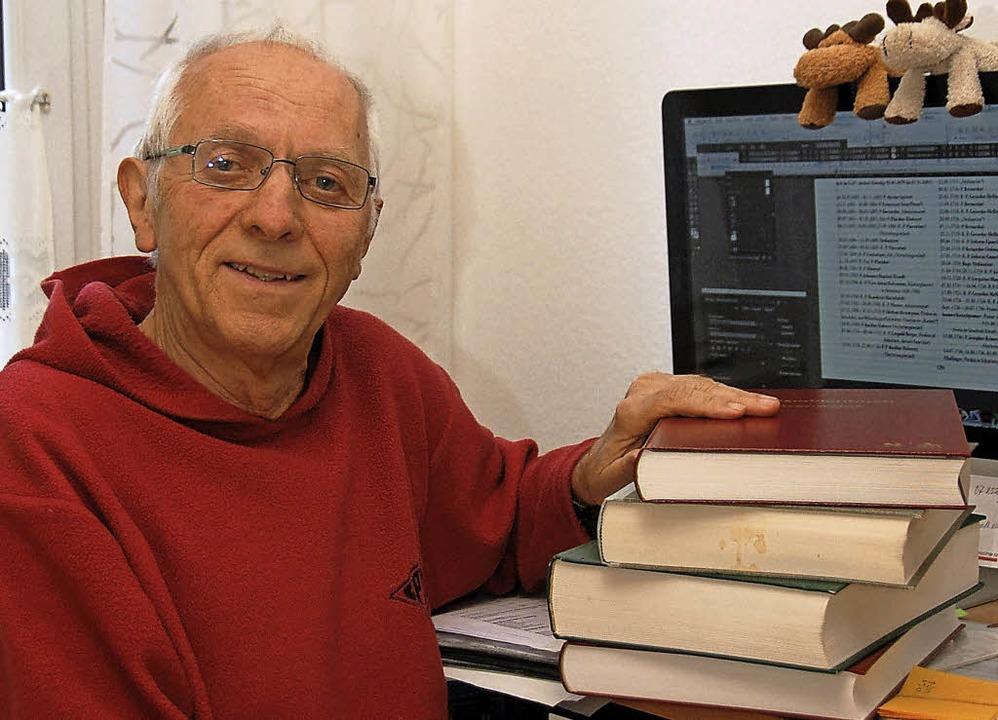 Klaus Siefert aus Dinglingen hat schon...ppenbücher in der Region geschrieben.   | Foto: Wolfgang Beck