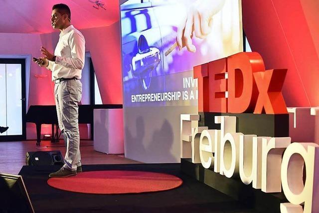 Bei Freiburgs erster TEDx-Veranstaltung gab's Leadership, Kunst und Solartechnik