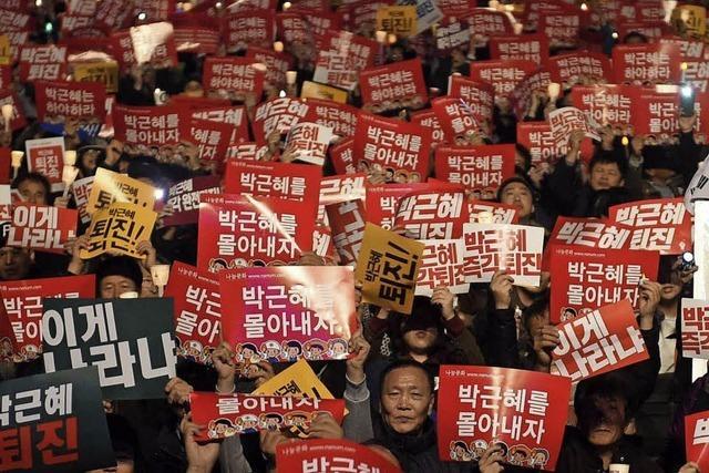 Eine Millionen gegen Südkoreas Präsidentin