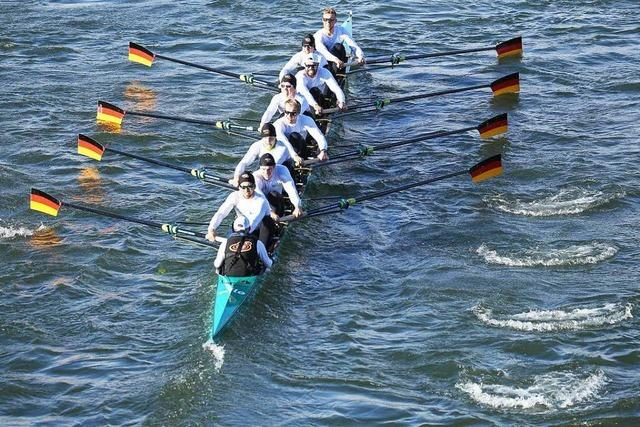 Deutschland-Achter siegt auf dem Rhein in Basel